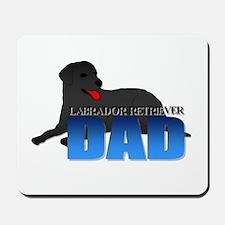 Black Labrador Retriever Dad Mousepad