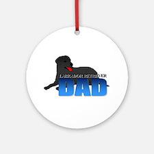 Labrador Retriever Dad Ornament (Round)
