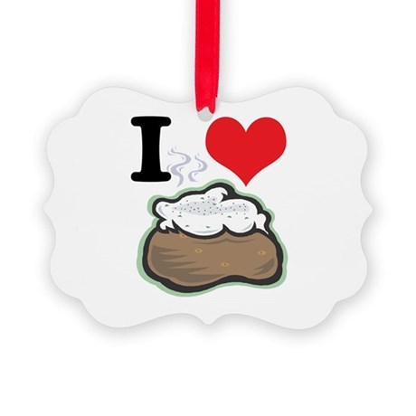 baked potato.jpg Picture Ornament