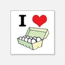 "eggs.jpg Square Sticker 3"" x 3"""