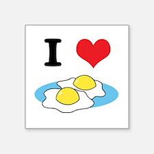 "fried eggs.jpg Square Sticker 3"" x 3"""