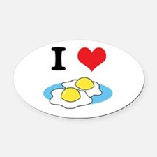 fried eggs.jpg Oval Car Magnet