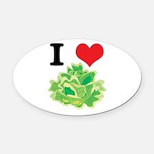 lettuce.jpg Oval Car Magnet