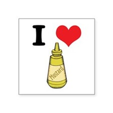 "mustard.jpg Square Sticker 3"" x 3"""