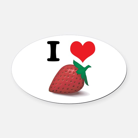strawberries.jpg Oval Car Magnet