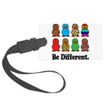 Be Different Ducks.png Large Luggage Tag