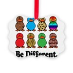 Be Different Ducks.png Picture Ornament