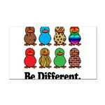 Be Different Ducks.png Rectangle Car Magnet