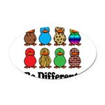 Be Different Ducks.png Oval Car Magnet