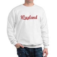 Wayland, Vintage Red Sweatshirt