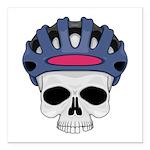 cycling skull copy.jpg Square Car Magnet 3
