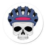 cycling skull copy.jpg Round Car Magnet