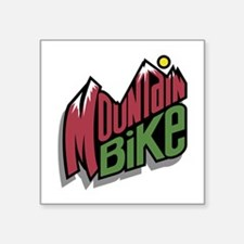 "mountain bike graphic copy.jpg Square Sticker 3"" x"