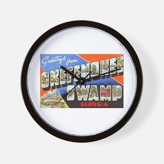 Okefenokee Swamp Greetings Wall Clock