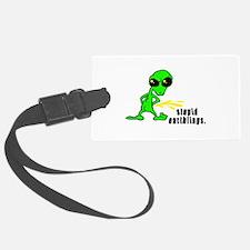 alien peeing copy.jpg Luggage Tag