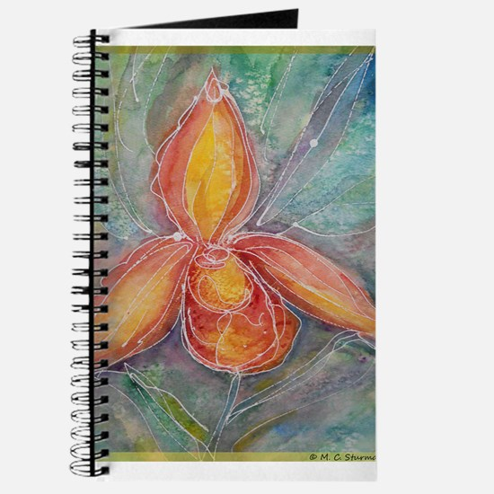 Orchid! Watercolor! Tropical flower! Journal