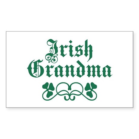 Irish Grandma Sticker (Rectangle)