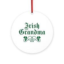 Irish Grandma Ornament (Round)
