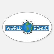 World Peace & blowjob Oval Decal
