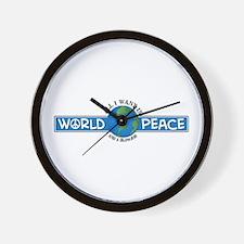 World Peace & blowjob Wall Clock