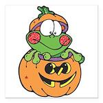 frog in pumpkin copy.png Square Car Magnet 3
