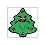 cute happy christmas tree.png Square Sticker 3