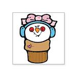 cute little girl snow cone.png Square Sticker 3