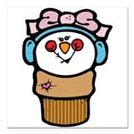cute little girl snow cone.png Square Car Magnet 3