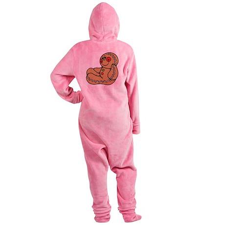 happy gingerbread man.png Footed Pajamas