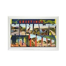 Mohawk Trail Greetings Rectangle Magnet