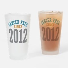 Cancer Free Since 2012 Drinking Glass