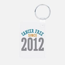 Cancer Free Since 2012 Aluminum Photo Keychain