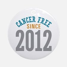 Cancer Free Since 2012 Ornament (Round)