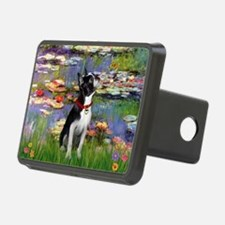 Boston Terrier 2 - Lilies #2 Hitch Cover