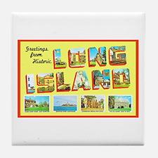 Long Island New York Tile Coaster