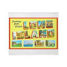 Long Island New York Throw Blanket