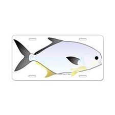 Pompano fish Aluminum License Plate