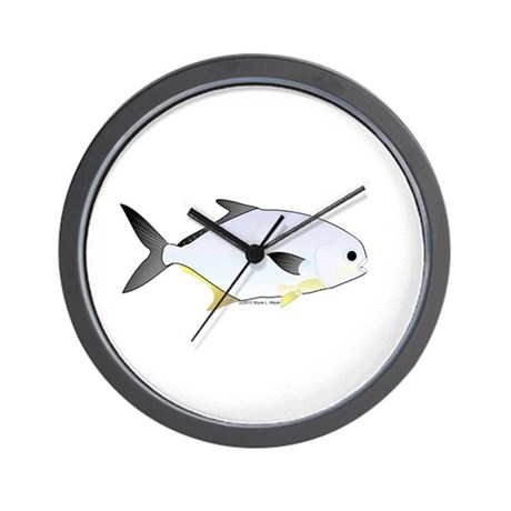 Pompano fish wall clock by combatfishingoffshorefish for Fish wall clock