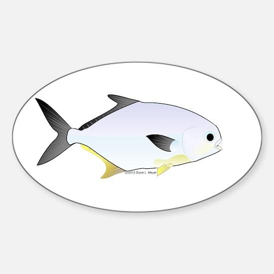 Pompano fish Sticker (Oval)