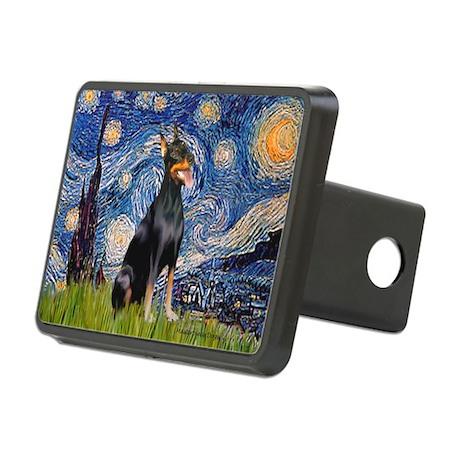 Starry Night Dobie Rectangular Hitch Cover