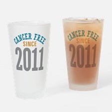 Cancer Free Since 2011 Drinking Glass