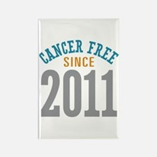 Cancer Free Since 2011 Rectangle Magnet (10 pack)