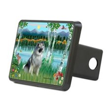 Birches/Keeshond Hitch Cover