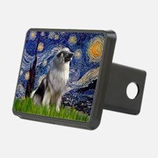 Starry Night Keeshond Hitch Cover