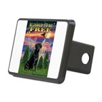 Blessed/Free-Black Lab Rectangular Hitch Cover