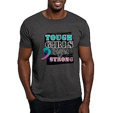 Tough Girls Thyroid Cancer T-Shirt