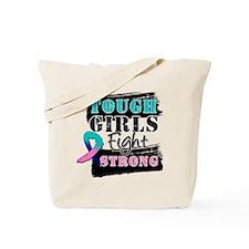 Tough Girls Thyroid Cancer Tote Bag