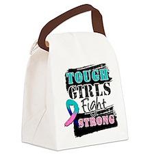 Tough Girls Thyroid Cancer Canvas Lunch Bag