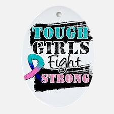 Tough Girls Thyroid Cancer Ornament (Oval)