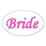 Bride Oval Sticker